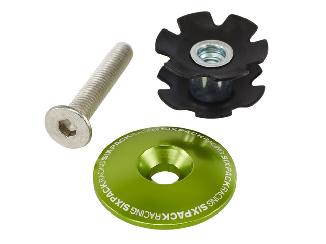 "Sixpack Aheadkappe 1 1/8"" mit Kralle electric-green"